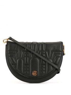 Полукруглая сумка через плечо Shanghai Tang. Цвет: черный