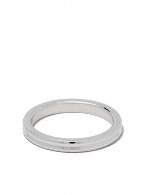 Кольцо Horizontal Guilloche из белого золота Le Gramme. Цвет: белый
