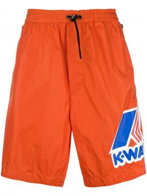 Баскетбольные шорты  x K-Way Dsquared2. Цвет: оранжевый