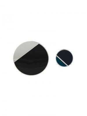 Geometric contrast earrings Lanvin. Цвет: черный