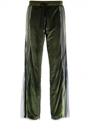 Расклешенные брюки Y/Project. Цвет: зеленый