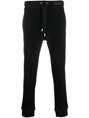Фактурные спортивные брюки Diesel. Цвет: черный