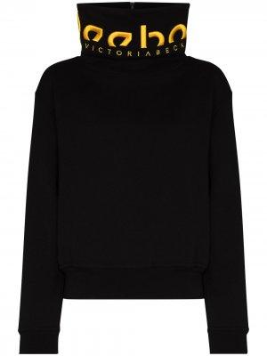 Свитер с вышитым логотипом из коллаборации Victoria Beckham Reebok x. Цвет: черный