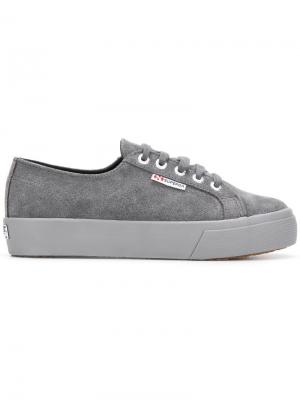 2730 platform sneakers Superga. Цвет: серый