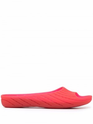 Слиперы Wabi с открытым носком Camper. Цвет: красный