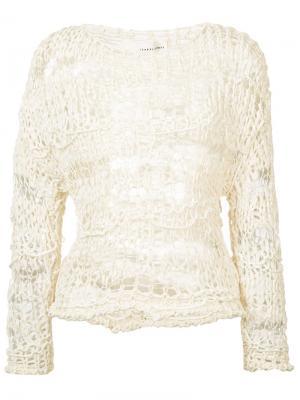 Вязаный свитер Isabel Benenato. Цвет: белый