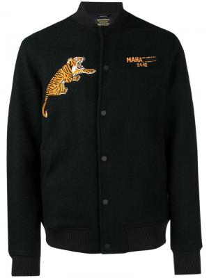Logo tiger embroidered jacket Maharishi. Цвет: черный