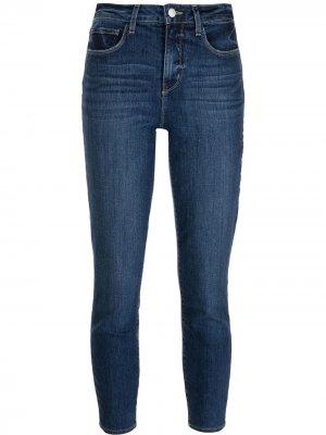 LAgence укороченные джинсы Margot L'Agence. Цвет: синий