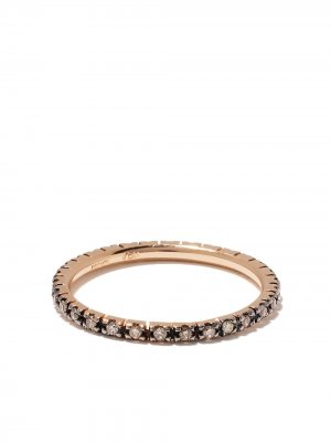 Кольцо из окисленного розового золота с бриллиантами Ileana Makri. Цвет: розовый