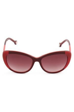 Солнцезащитные очки Carolina Herrera. Цвет: красный