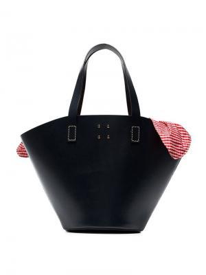 Большая сумка-корзина с отделкой в клетку гингем Trademark. Цвет: синий