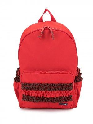 Рюкзак с оборками Familiar. Цвет: красный
