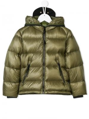 Quilted puffer jacket Cp Company Kids. Цвет: зеленый
