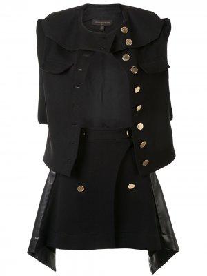 Костюм из жилета и юбки Louis Vuitton. Цвет: черный