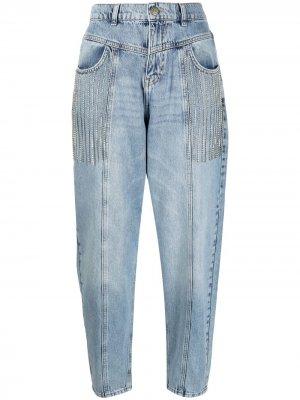 Зауженные джинсы с завышенной талией TWINSET. Цвет: синий