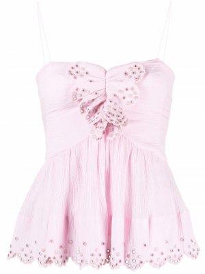 Блузка Landen Isabel Marant. Цвет: розовый