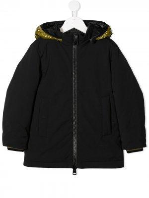 Пальто со съемным капюшоном Herno Kids. Цвет: синий
