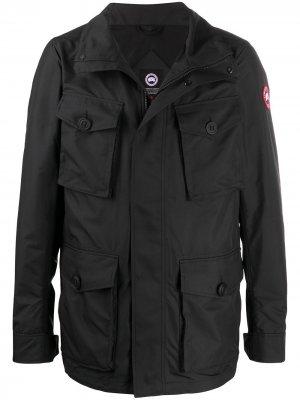 Куртка Stanhope на молнии Canada Goose. Цвет: черный