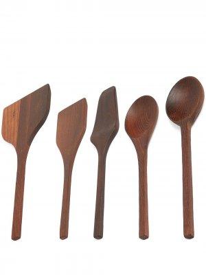 Набор деревянных лопаток Pure Serax. Цвет: коричневый