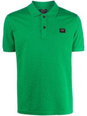Рубашка-поло с нашивкой-логотипом Paul & Shark. Цвет: зеленый