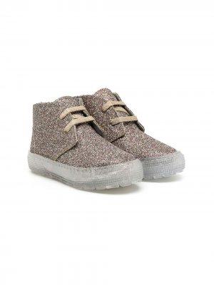 Ботинки Keet с блестками Pèpè. Цвет: золотистый