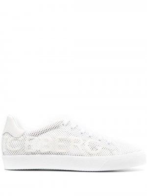 Сетчатые кроссовки с тисненым логотипом Iceberg. Цвет: белый