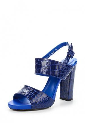 Босоножки Calipso. Цвет: синий