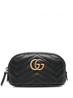 Стеганая ключница GG Marmont Gucci. Цвет: черный