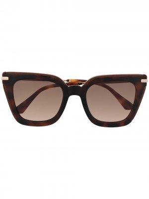 Солнцезащитные очки Ciara в квадратной оправе Jimmy Choo. Цвет: коричневый