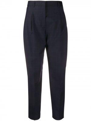 Клетчатые брюки строгого кроя PS Paul Smith. Цвет: синий
