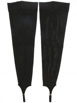 Чулки с ремешками Murmur. Цвет: черный