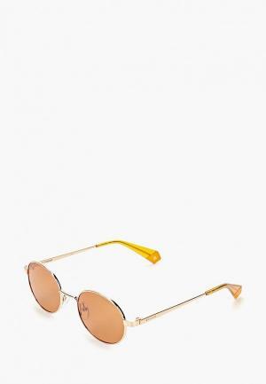 Очки солнцезащитные Polaroid. Цвет: золотой