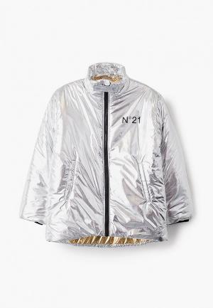 Куртка утепленная N21. Цвет: серебряный
