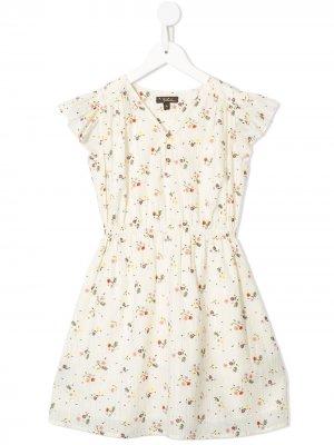 Платье Julieta с цветочным принтом Velveteen. Цвет: разноцветный