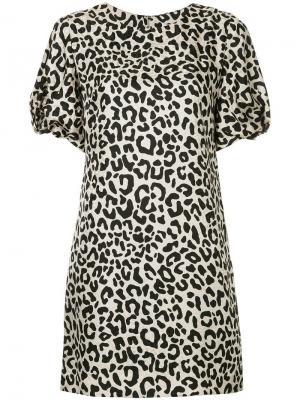 Платье с леопардовым принтом Milly. Цвет: черный