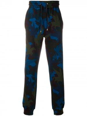 Спортивные брюки с принтом Pegasus Etro. Цвет: синий