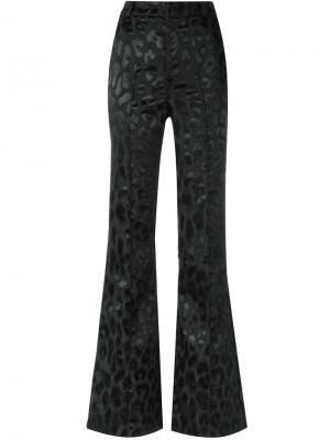 Расклешенные брюки с анималистическим принтом Tufi Duek. Цвет: черный