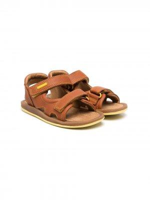 Сандалии на липучках с логотипом Camper Kids. Цвет: коричневый