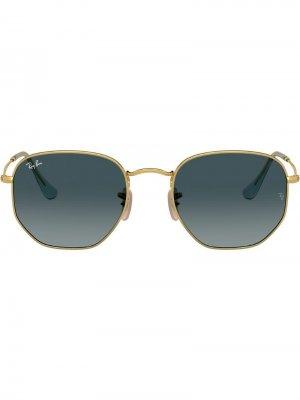 Солнцезащитные очки RB3548N в шестиугольной оправе Ray-Ban. Цвет: золотистый