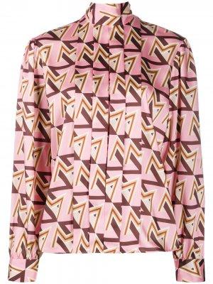 Блузка с геометричным принтом MSGM. Цвет: розовый