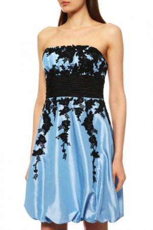 Платье BARBARA SCHWARZER. Цвет: голубой
