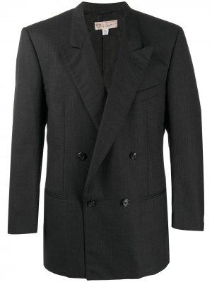 Двубортный пиджак 1990-х годов Gucci Pre-Owned. Цвет: синий