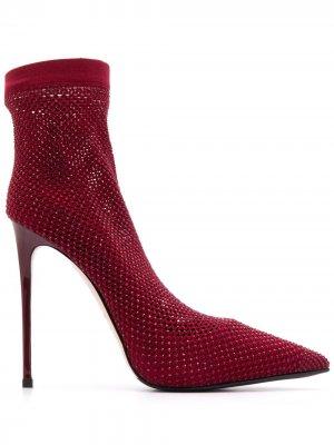 Декорированные туфли-лодочки на шпильке Le Silla. Цвет: красный