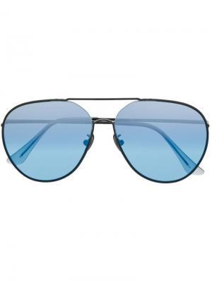 Солнцезащитные очки-авиаторы Completo Retrosuperfuture. Цвет: черный