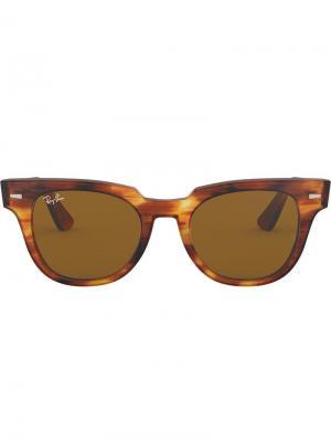 Солнцезащитные очки Meteor Stripped Havana Ray-Ban. Цвет: коричневый