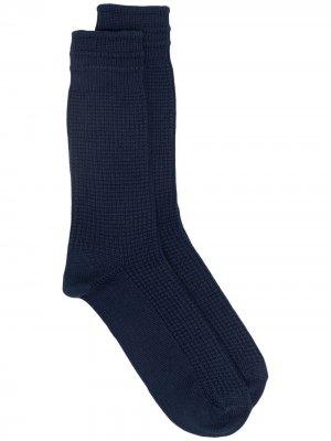 Носки фактурной вязки THUNDERS LOVE. Цвет: синий