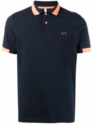 Рубашка поло с вышитым логотипом Sun 68. Цвет: синий