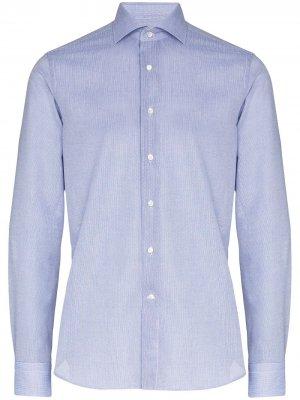 Структурированная рубашка Canali. Цвет: синий