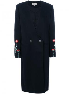 Удлиненное пальто строгого кроя Creek Temperley London. Цвет: черный