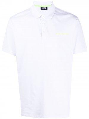 Рубашка поло с логотипом Karl Lagerfeld. Цвет: белый